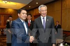 Chủ tịch Hà Nội tiếp kiến Thủ tướng Singapore Lý Hiển Long