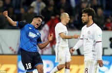 Kramaric lập siêu phẩm, Hoffenheim thắng sốc Bayern Munich