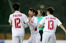 Tuyển nữ Việt Nam giành chiến thắng hủy diệt 11-0 ở trận ra quân