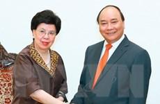 Thủ tướng Nguyễn Xuân Phúc tiếp Tổng giám đốc WHO Margaret Chan