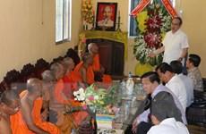 Ủy ban MTTQ Việt Nam chúc Tết Chôl Chnăm Thmây tại Hậu Giang