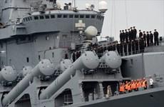 Tàu Hải quân Nga đã cập Cảng Quốc tế Cam Ranh của Khánh Hòa