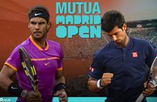 """Rafael Nadal """"đại chiến"""" Novak Djokovic ở bán kết Madrid Masters"""