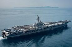 Tàu sân bay USS Carl Vinson sắp rời khu vực Bán đảo Triều Tiên