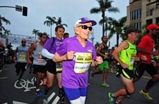 Cụ bà mắc bệnh ung thư lập kỷ lục chạy marathon ở tuổi 94