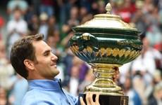 """Roger Federer """"tốc hành"""" lên ngôi vô địch tại giải Halle Open"""
