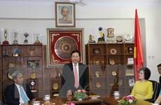 Phó Thủ tướng Phạm Bình Minh thăm Đại sứ quán Việt Nam tại Ấn Độ