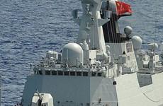 Tàu chiến Trung Quốc diễn tập bắn đạn thật tại Địa Trung Hải
