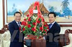Lãnh đạo Việt Nam gửi hoa và Điện mừng tới lãnh đạo Lào