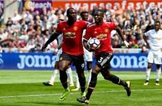 Manchester United thắng đậm Swansea City, Pogba, Lukaku lập công
