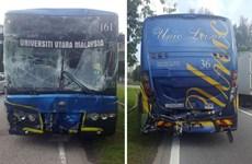 Xe buýt phục vụ SEA Games gặp tai nạn, 8 vận động viên bị thương