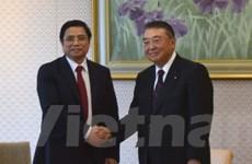 Lãnh đạo Nhật Bản tiếp Trưởng Ban Tổ chức Trung ương Phạm Minh Chính