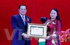 Míttinh trọng thể kỷ niệm Năm đoàn kết, hữu nghị Việt Nam-Lào