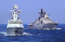 Đội tàu chiến của Trung Quốc tham gia tập trận chung với Nga
