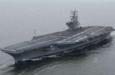 Tàu sân bay Mỹ tập trận với tàu chiến Nhật Bản quanh đảo Okinawa