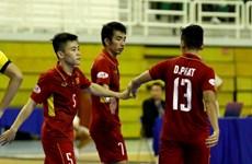 Tuyển Futsal Việt Nam vào bán kết bằng chiến thắng hủy diệt
