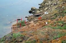 Phát hiện quả bom còn sót lại sau chiến tranh ở bãi đất gần sông Lô