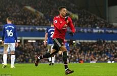 Đánh bại Everton, Manchester United trở lại tốp 2 Premier League