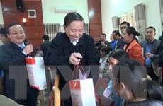 Bộ trưởng Bộ Công an chúc Tết công nhân lao động và người nghèo