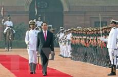 Lễ đón Chủ tịch nước thăm cấp Nhà nước tới Cộng hòa Ấn Độ