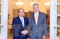 Thủ tướng Nguyễn Xuân Phúc hội đàm với Thủ tướng Lý Hiển Long