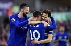 "Cesc Fabregas ""nổ súng,"" Chelsea áp sát tốp 4 Premier League"