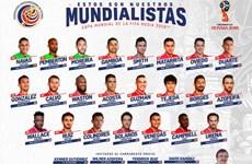 Costa Rica chốt danh sách, thách thức Brazil, Thụy Sỹ và Serbia