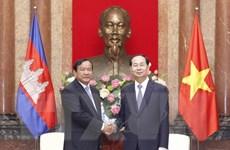 Chủ tịch nước Trần Đại Quang tiếp Bộ trưởng Cao cấp Campuchia