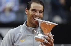 Nadal 'bừng tỉnh' sau cơn mưa, đăng quang Rome Masters kịch tính
