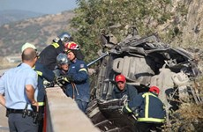 Hy Lạp: Xe chở lậu người di cư gặp tai nạn, 10 người thương vong