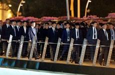 Ông Kim Jong-un được bảo vệ nghiêm ngặt khi khám phá Singapore