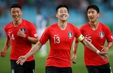 Đội tuyển Hàn Quốc được đón tiếp nồng hậu khi đặt chân đến Nga