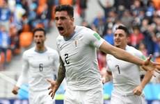 Gimenez tỏa sáng, Uruguay nhọc nhằn đánh bại Ai Cập ở phút 90