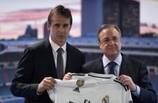 HLV Julen Lopetegui rơi lệ trong ngày ra mắt Real Madrid