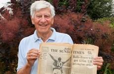 'Fan ruột' 79 tuổi của đội tuyển Anh gợi nhớ hào quang năm 1966
