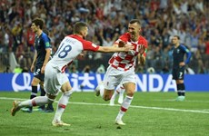 Cận cảnh bàn gỡ hòa của Ivan Perisic vào lưới Pháp ở chung kết