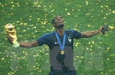 Pogba tri ân người cha quá cố trong phút ăn mừng chức vô địch