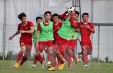 Cận cảnh buổi tập cuối của Olympic Việt Nam trước trận gặp Bahrain