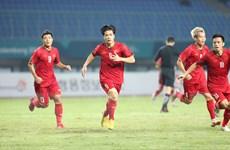 Cận cảnh Olympic Việt Nam giành chiến thắng lịch sử trước Bahrain