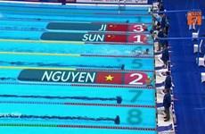 Nguyễn Huy Hoàng lập thêm kỳ tích, giành HCB 1.500m bơi tự do