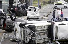 Người dân Nhật Bản khẩn trương khắc phục hậu quả cơn bão Jebi