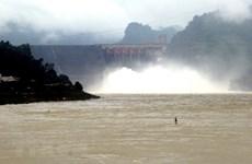 Đóng 1 cửa xả đáy hồ thủy điện Hòa Bình vào hồi 10 giờ ngày 16/9