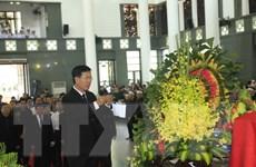 Các đoàn đại biểu ban, ngành viếng Chủ tịch nước Trần Đại Quang