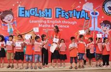 Hơn 3.000 học sinh tiểu học tham dự ngày hội tiếng Anh