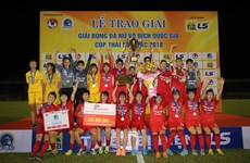 Phong Phú Hà Nam lần đầu lên ngôi tại giải bóng đá nữ Quốc gia