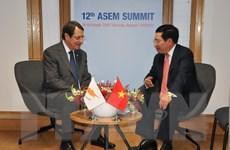 Phó Thủ tướng tiếp xúc song phương trong khuôn khổ Hội nghị ASEM 12