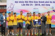 Đội bóng TTXVN giành á quân tại Hội khỏe Hội Nhà báo Thành phố Hà Nội