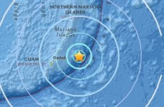 Động đất mạnh 6,2 độ tại phía Đông quần đảo Bắc Mariana