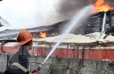 Bình Phước: Xảy ra vụ cháy lớn tại khu vực nhà xưởng sản xuất sợi