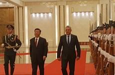 Chủ tịch Trung Quốc hội đàm với Chủ tịch Cuba tại Bắc Kinh